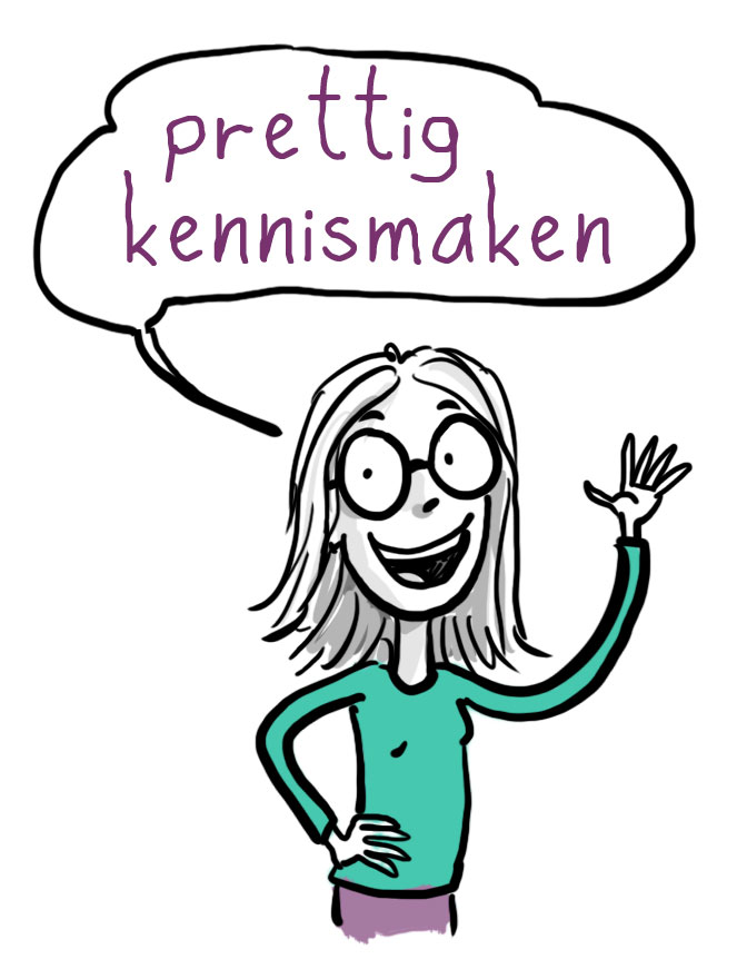 Hallo zegt de stand-up cartoonist