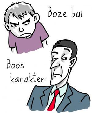 Boze bui of een boos karakter