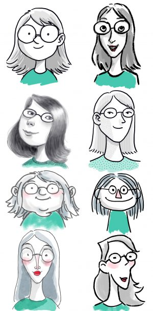 Different faces for Marijke