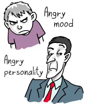 Difference between mood or personality